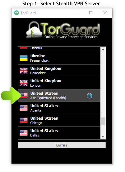 How to use TorGuard VPN in China  