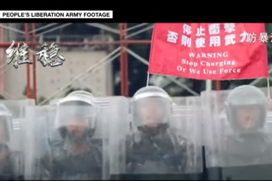 Situation Worsens in Hong Kong with Armed Troop Involvement and Military Video
