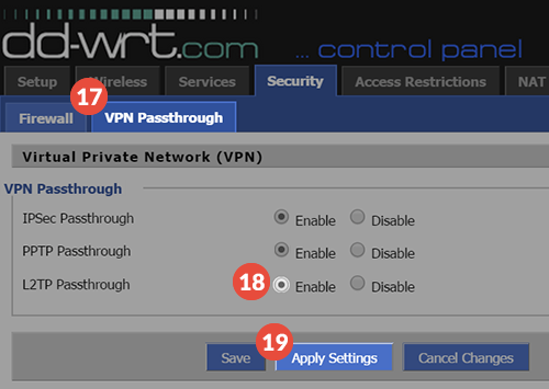 How to set up L2TP VPN on DD-WRT - Knowledgebase - TorGuard