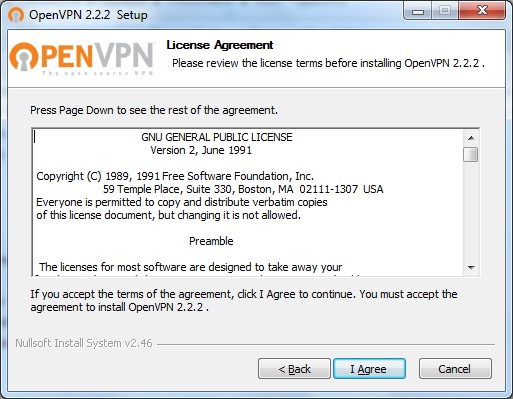 Windows7 OpenVPN VPN Setup: Step 2