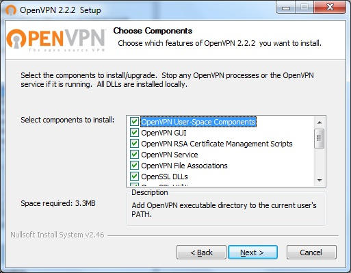 Windows7 OpenVPN VPN Setup: Step 3