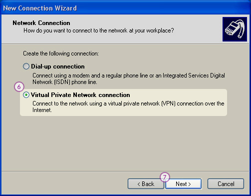 WindowsXP L2TP/IPSec VPN Setup: Step 5