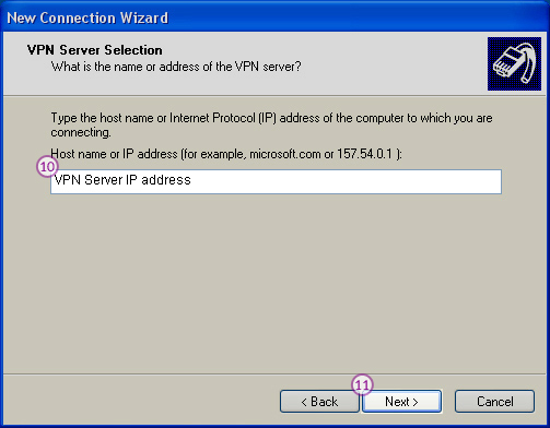 WindowsXP L2TP/IPSec VPN Setup: Step 7