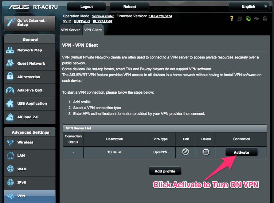 How to Setup OpenVPN on ASUS Stock Firmware - Knowledgebase
