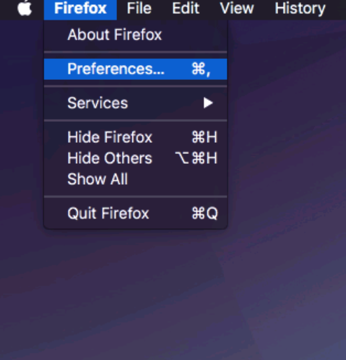 How to Manually Setup a HTTP Proxy in Firefox on MAC OS