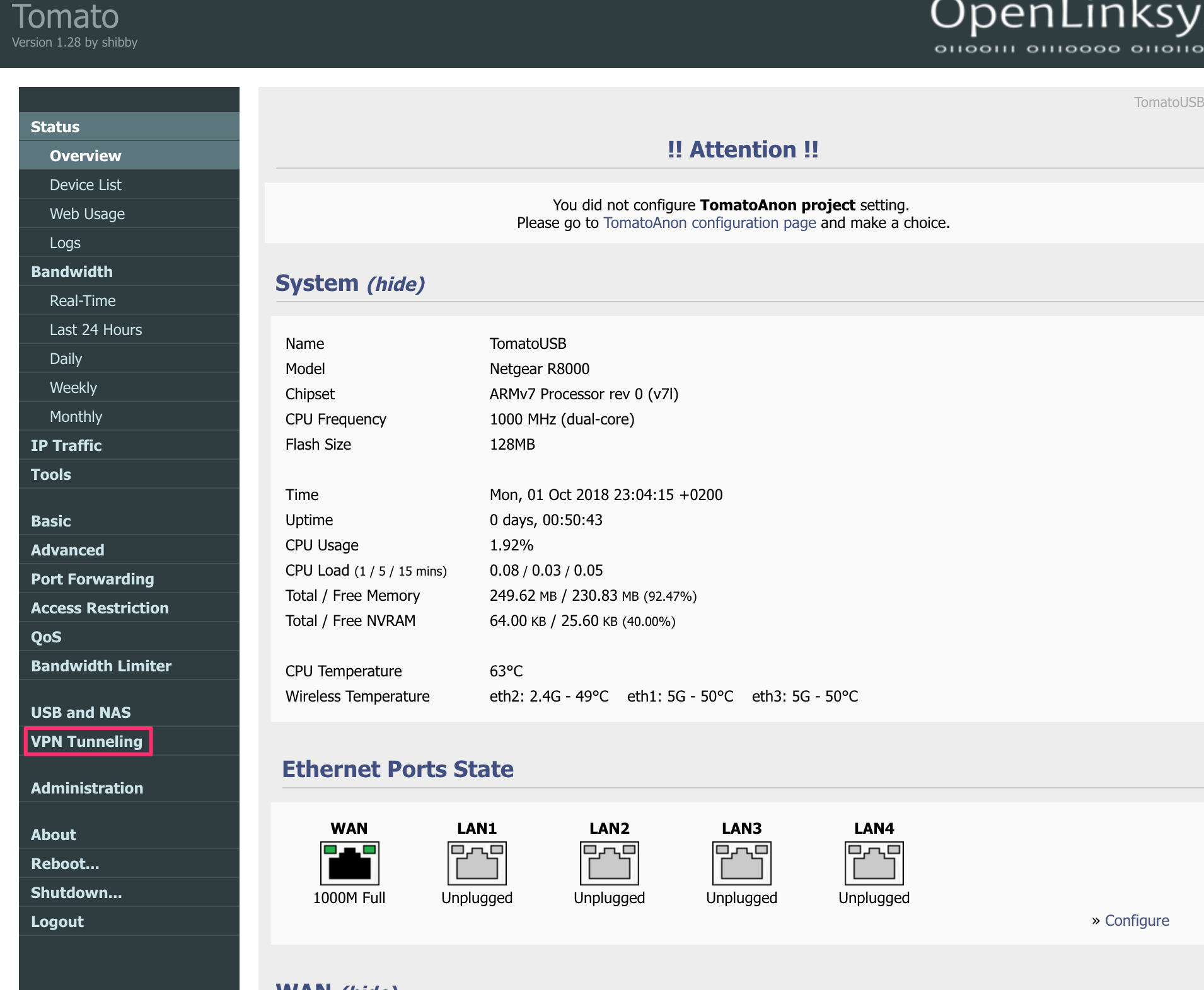 How to setup OpenVPN On Tomato with TorGuard (Newer Build