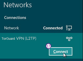 Windows8 L2TP/IPSec VPN Setup: Step 10