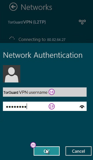 Windows8 L2TP/IPSec VPN Setup: Step 11