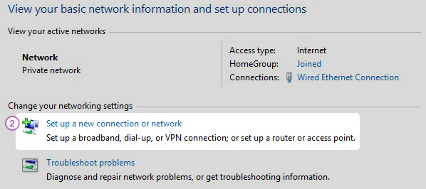 Windows8 L2TP/IPSec VPN Setup: Step 2