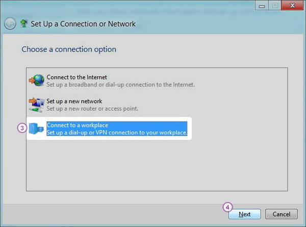 Windows8 PPT VPN Setup: Step 3