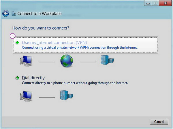 Windows8 L2TP/IPSec VPN Setup: Step 4