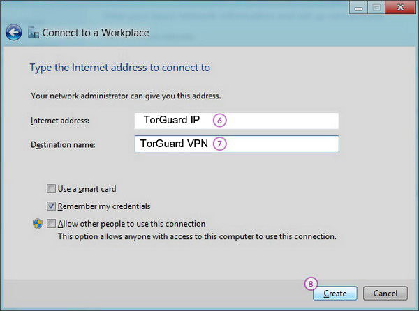 Windows8 L2TP/IPSec VPN Setup: Step 5