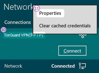 Windows8 L2TP/IPSec VPN Setup: Step 7