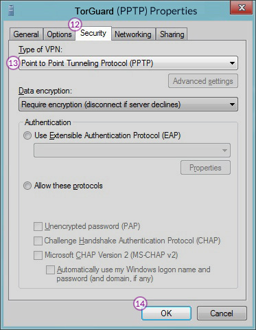 Windows8 PPT VPN Setup: Step 8